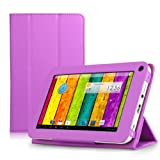 ProntoTec Ultra Slim Lightweight Smart-shell Stand Leather Case Cover for 7 Inch ProntoTec A20 Android Tablet(Purple)