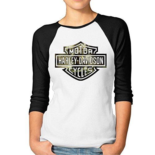MYKKI Harley Davidson Logo Women's Soft Tee Black M (Dean Davidson Jewelry compare prices)