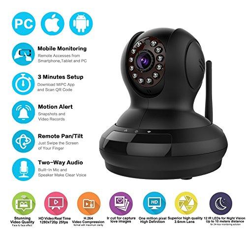 Edeep Wifi Wireless IP Camera Home Security Cameras Network Video Monitor  HD 720P