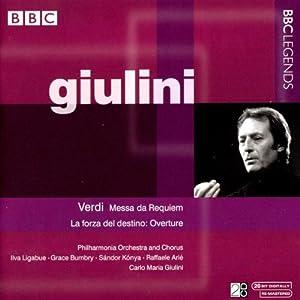 ヴェルディ:レクイエム/歌劇「運命の力」序曲(ジュリーニ)(1961, 1964)                                                                                                                                                                                                                                                                Import                                                                                                                                     曲目リスト