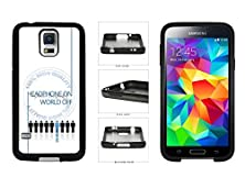 buy Headphones On World Off - Think Music Tpu Rubber Silicone Phone Case Back Cover For Samsung Galaxy S4 I9500 Comes With Security Tag And Myphone Designs(Tm) Cleaning Cloth
