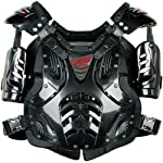Fly Racing Convertible II Adult Roost Deflector Off-Road/Dirt Bike Motorcycle Body Armor - Black / One Size