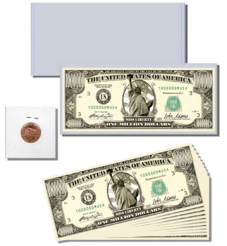 13pc. Novelty Money Gift Set featuring Miss Liberty Million Dollar Bill - 1
