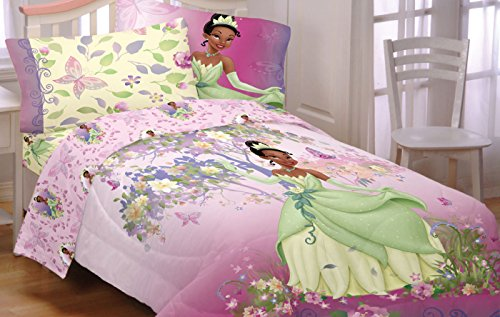 4pc Disney Princess And The Frog Full Bed Sheet Set Southern Butterfly Bedding