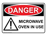 ComplianceSigns Plastic OSHA DANGER Sign 10 x 7 in. with MRI / X-Ray / Microwave Info in English White