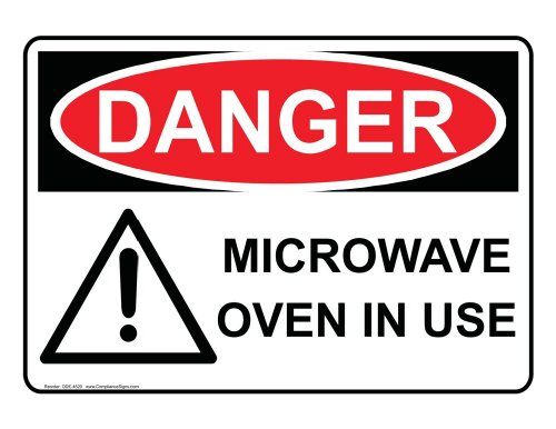 Compliancesigns Plastic Osha Danger Sign, 10 X 7 In. With Mri / X-Ray / Microwave Info In English, White
