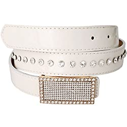 Super Drool Non Leather White Belt for Women
