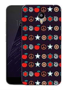 "Humor Gang Random Abstract Printed Designer Mobile Back Cover For ""Google Infocus M2 Note"" (3D, Matte Finish, Premium Quality, Protective Snap On Slim Hard Phone Case, Multi Color)"