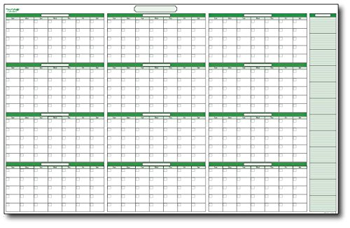 Year Calendar Whiteboard : Month dry erase wall calendar page online