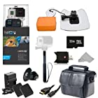 GoPro HERO3+ Black Edition Camera (CHDHX-302) + Action Pro Series All In 1 Surf Kit Designed for Surboard Mount, PADDLEBOARD, KITEBOARD, WINDSURF, JET SKI, BOAT, Wave Runner, surfboard, bodyboard, ski, snowboard, kayak, wakeboard, & More watersports!! + Extra Necessary Accessories