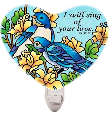 Nightlight-NL323R-Classical bluebirds/I will sing of your love. Ps. 59:16 - 1