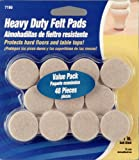 Waxman 4719095N 1-Inch Self-Stick Round Felt Pads Value Pack, Oatmeal