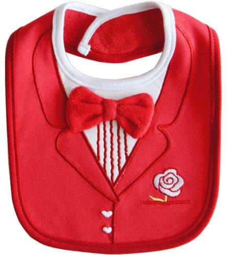 ベビー スタイ★よだれかけ ♪ suit red♪