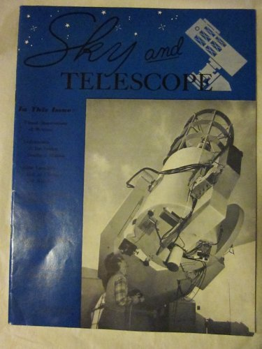 Sky And Telescope February 1960 Vol. Xix, No. 4 (Leiden 36-Inch Light Collector In South Africa)