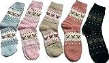 Sunpleon Girl's Mid Calf Length Socks (Pack of 5)