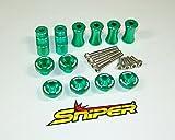 KSR110 PRO シュラウド オフセットキット緑 ワイド化[SP0003G]