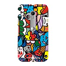 buy Homesogood Colorful Cartoon Characters Multicolor 3D Mobile Case For Moto G 3Rd Gen (Back Cover)