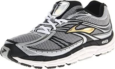 Brooks Men's Addiction 10 Running Shoe,Silver/Black/Metallic Gold,10.5 2E US