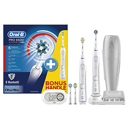 Oral-B Smart Series 6500 Electric Rechargeable Toothbrush Powered by Braun - Two Handle Pack