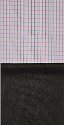 Grasim Men's Cotton Shirt and Trousers Fabrics (57, White and Black)