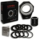 Fotodiox Pro Macro Extension Kit with LED Ring Light 48a for Extreme Macro Photography, fits Olympus PEN E-PL1, E-PL1s, E-PL2, E-PL3, E-P2, E-P3, E-M, OM-D, E-M5, Panasonic Lumix DMC-G1, G2, G3, G10, GX1, GH1, GH2, GF1, GF2, GF3, GF5, Panasonic AG-AF100