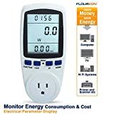 Floureon® TS-836A Plug Power Meter Energy Watt Voltage Amps Meter with Electricity Usage Monitor, Reduce Your Energy Costs