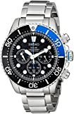 Seiko Men's SSC017 Solar Dive Stainless Steel Dive Watch