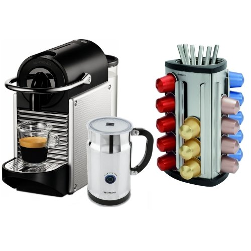 nespresso pixie d60 electric aluminum espresso machine. Black Bedroom Furniture Sets. Home Design Ideas