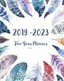 2019-2023 Feathers Five Year Planner: 60 Months Planner and Calendar,Monthly Calendar Planner, Agenda Planner and Schedule Organizer, Journal Planner years (5 year calendar/5 year diary/8 x 10)