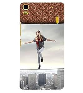 Fuson 3D Printed Girly Designer back case cover for Lenovo A7000 - D4616