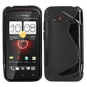Fosmon S-Curve Soft Shell TPU Case for HTC DROID Incredible 4G LTE - Black