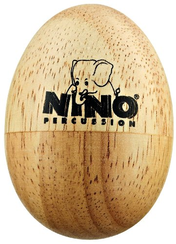 Nino Percussion NINO562 Natural Wood Egg Shaker, Small