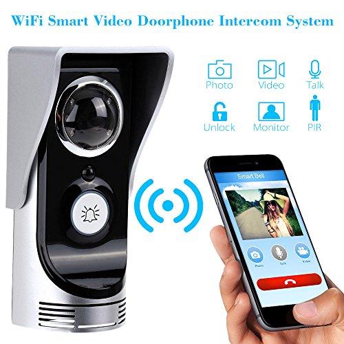 winit wifi wireless echtzeit video kamera t rsprechanlage t rklingel intercom monitor sicherheit. Black Bedroom Furniture Sets. Home Design Ideas
