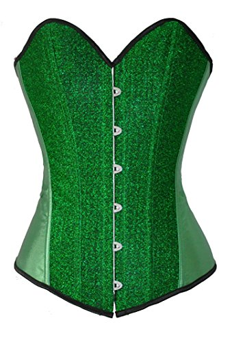 Ivy Shi Women's Gold Boned Lace Up Back Corset Top