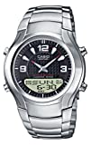Casio Edifice EFA-112D-1AVEF Men's Analog and Digital Quartz Watch with Black Dial and Stainless Steel Bracelet