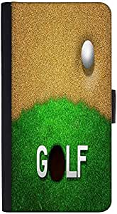 Snoogg Ball In Sand Golf Background Graphic Snap On Hard Back Leather + Pc Fl...