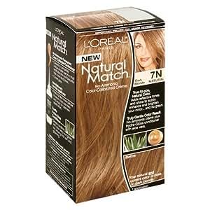 L'Oreal Natural Match No-Ammonia Color-Calibrated Creme, Dark Blonde, 7N Natural