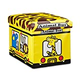 Relaxdays Faltbare Spielzeugkiste Giraffe HBT 32 x 48 x 32