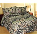 New Full Size 7 Piece Woodland Hunter Camo Comforter And Sheet Set