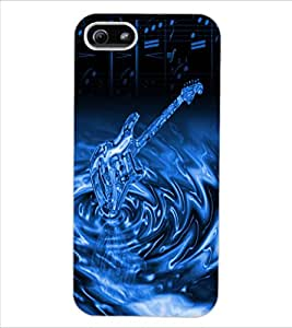 ColourCraft Stylish Guitar Design Back Case Cover for APPLE IPHONE 5
