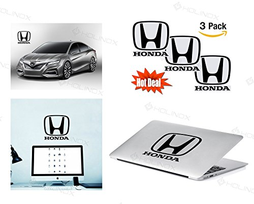 Honda Logo Stickers Decal - Set of 3 Decals - High Resolution, Superior Finish and Transparent Background - Ideal for Car, Motorcycle, Laptop, Macbook, iMac, Windows and Wall Art (Honda Dax Accessories compare prices)