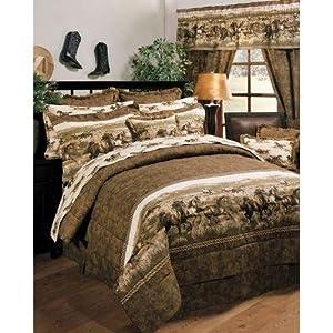Blue ridge trading wild horses queen comforter for Wild bedding