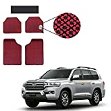 Allure Auto Red Odourless Car Floor / Foot Mats 5 Pcs Set for Toyota Landcruiser 200