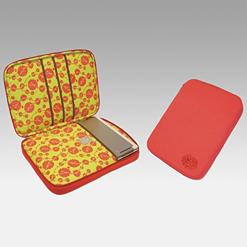 Amy Butler For Kalencom Nola Laptop Wrap - Tomato Multicolor - Ab111-Tomato front-578875