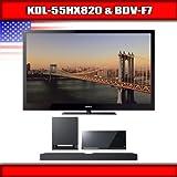 "Sony KDL-55HX820 - 55"" BRAVIA 3D LED-backlit LCD TV + Sony BDV-F7 - Blu-Ray ...."