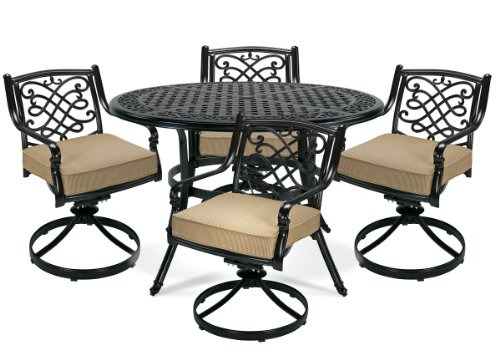 Image of D3550-DSR-D3758-TR Camden Patio Dining (5 Piece) Set By La-z-boy Outdoor