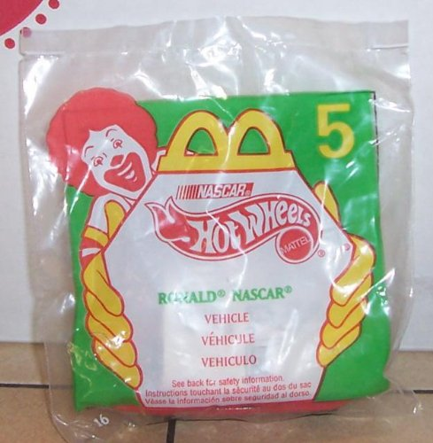 1998 Mcdonalds HOT Wheels Ronald Nascar Happy Meal Toy #5 MIP