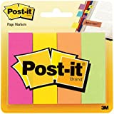 Post-it Page Markers, Assorted Colors, 1 in x 3 in, 50 Sheets/Pad, 4 Pads/Pack (671-4AF)