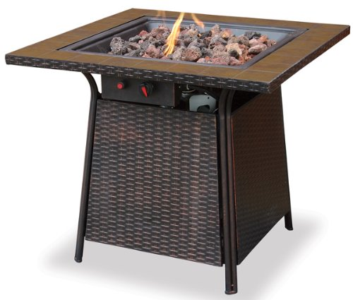 Blue Rhino UniFlame Outdoor Gas Firebowl With Tile Mantel