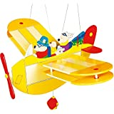 Wooden Mobiles : Large Moving Flying Bear Aeroplane [Toy]